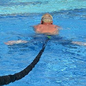 BodyCROSS Cinturón de natación | Entrenamiento óptimo de natación para Cualquier Piscina: Amazon.es: Deportes y aire libre