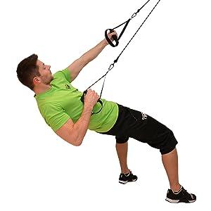 BodyCROSS Suspension Trainer con polea | Sistema de ...