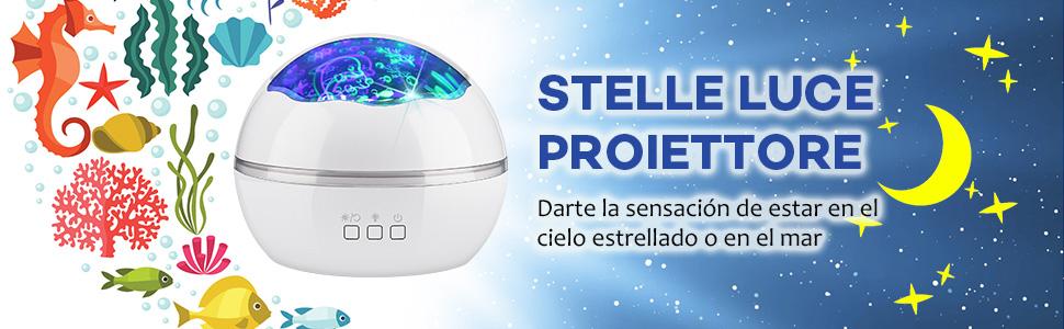 Luz de Proyector, Delicacy 2 in 1 Lámpara proyector estrellas ...