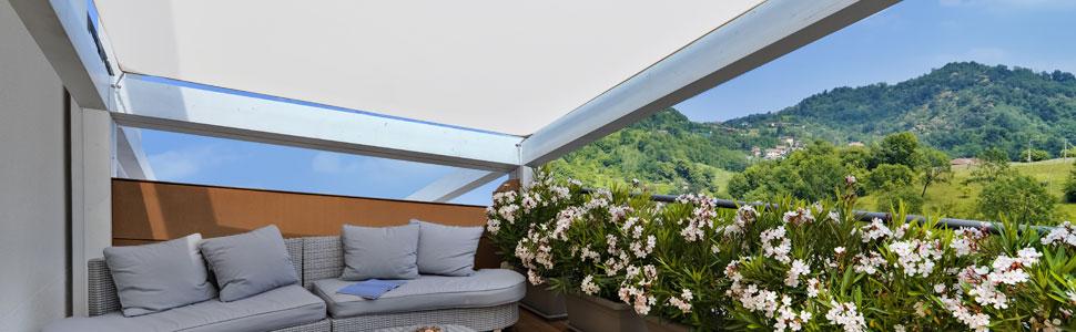 Cool Area Toldo Vela de Sombra Cuadrado 5 x 5 Metros, Impermeable Protección UV para Patio Exteriores Jardín, Color Crema: Amazon.es: Jardín
