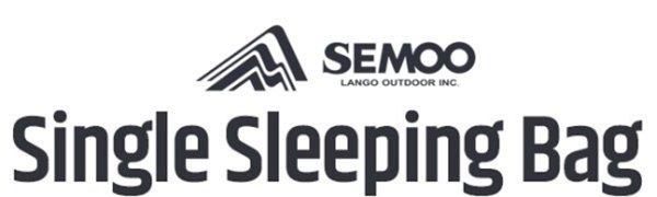 Saco de dormir Semoo 200x70cm, Techo de 3 estaciones (de 6 a 22 ° C), Para el verano, ligero, ideal para Camping y Senderismo.