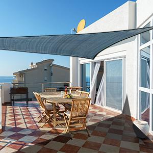 Cool Area Toldo Vela de Sombra Cuadrado 4 x 4 Metros Protección Rayos UV, Resistente y Transpirable para Patio Exteriores Jardín, Color Arena: Amazon.es: Jardín