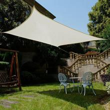 Sunnylaxx Vela de Sombra Triangular 3 x 3 x 4.2 Metros, toldo Resistente y Transpirable, para Exteriores, jardín, Color Crema: Amazon.es: Jardín