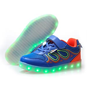DoGeek Zapatos Led Deportivos para Hombres Mujeres 22 Color USB ...