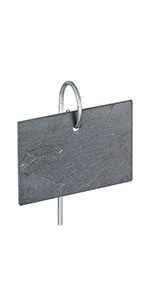 GardenMate® - 10 Placas de Pizarra Conjunto con 55cm Barra ...