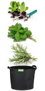 GardenMate® 5X 30l Sacos para Plantas de Malla geotextil ...