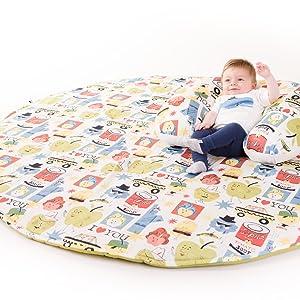 Manta de juegos para bebes XXL 160 cm plegable grande para gatear acolchada gimnasio suelo actividades alfombra Decoracion infantil Regalos bebe ...