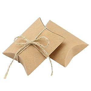 Estas cajas están hechas de papel kraft de alta calidad con una capa resistente a los arañazos. Kraft cajas de estilo vintage, para mejorar la sensación de ...
