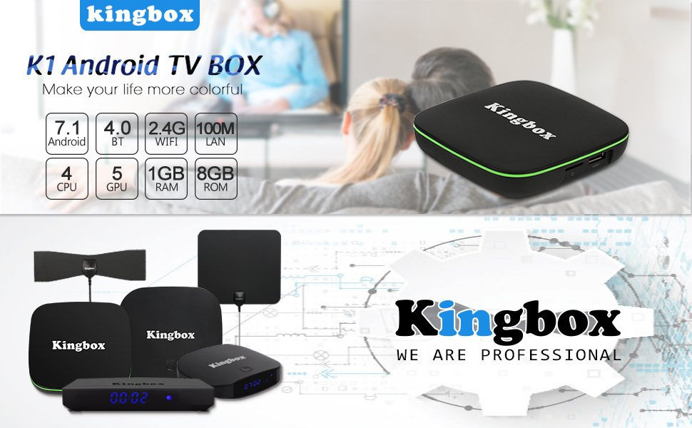 Kingbox Android TV Box, K1 Android 7.1 Box Compatible con 4K (60Hz ...