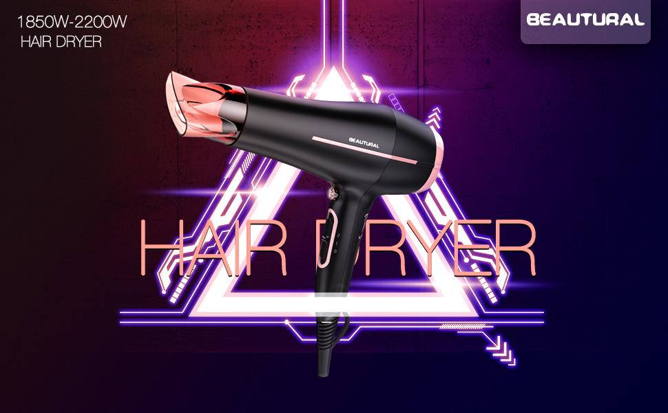 Beautural Potente secador iónico de pelo