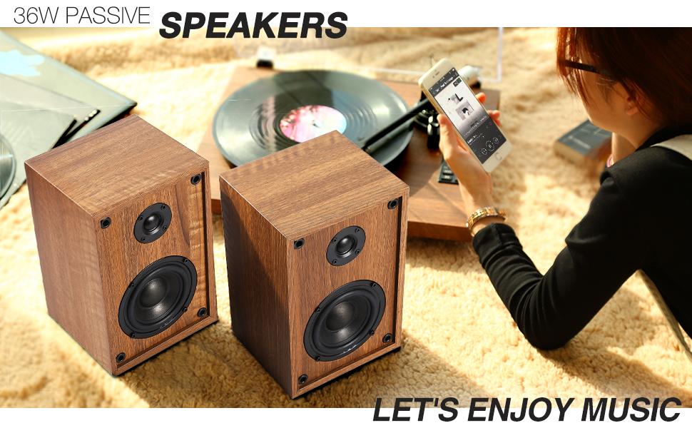 1 BY ONE Tocadiscos Inalambrico con Sistema Hi-Fi con Altavoces de ...