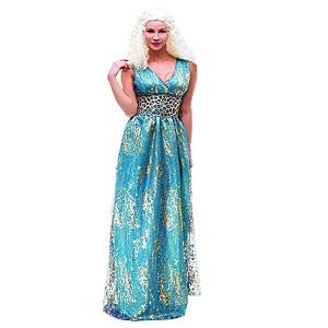 SYMTOP Traje Daenerys Targaryen Khaleesi Largo Vestido Azul Juego ...