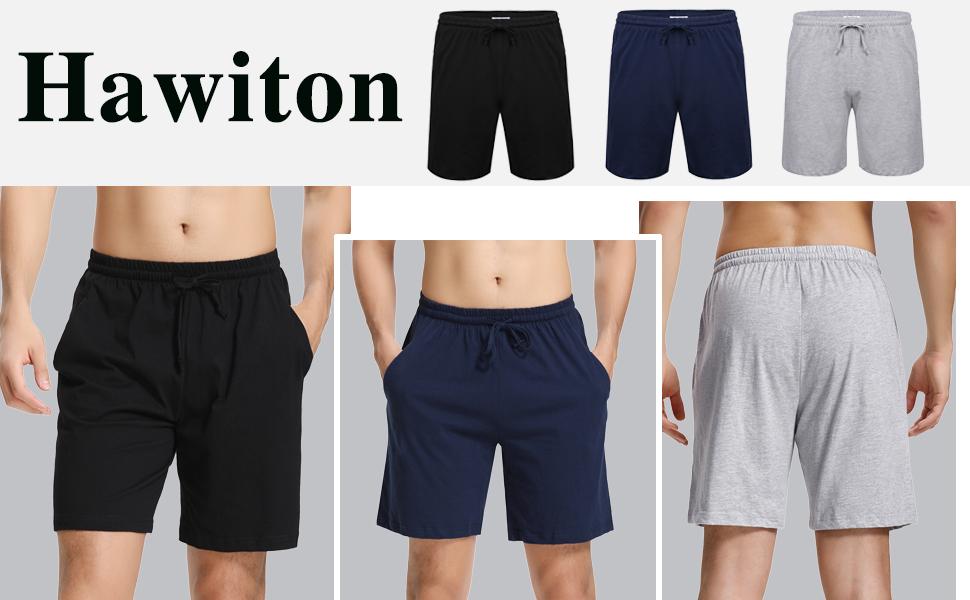 Hawiton Pantalones Cortos de Pijama para Hombre Algodón: Amazon.es ...