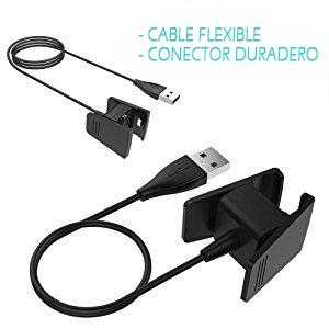 AFUNTA Un Conjunto de 2 Cables para Smartwatch 2 Cables de Carga USB para Fitbit Charge 2 Wireless Activity