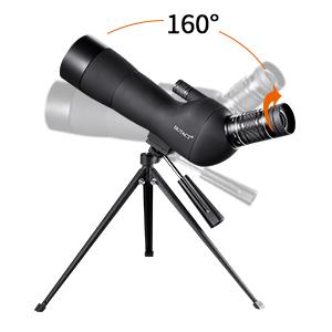 HUTACT Telescopio terrestre p/ájaros y paisajes claramente. Objetivo de 60mm de ancho amplificaci/ón m/áximo de 60 veces con permitiendo a los usuarios ver animales