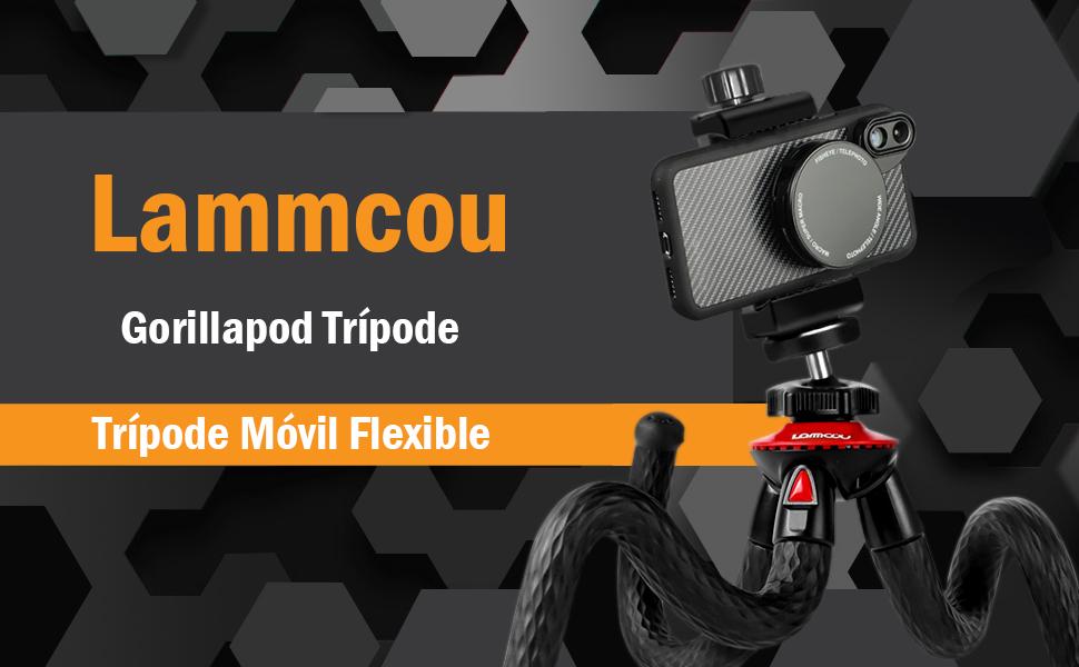 Lammcou Trípode Cámara Réflex Gorilla Trípode Móvil Flexible Gopro ...