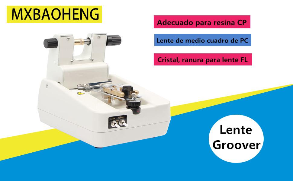 MXBAOHENG CP-3T M/áquina de Ranurado de Lentes Ranurador de Lente /óptica Lente Optica Groover Autom/ático
