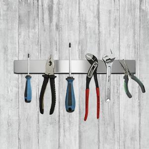 Homemaxs Barra Magnética para Cuchillos , 40 cm Soporte para Cuchillos de Acero Inoxidable - Montaje muy Resistente y Fácil, Iman para Cuchillos de ...