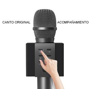 TOSING 008 Micrófono de Karaoke Inalámbrico Bluetooth, Potencia de ...