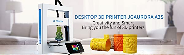 JGAURORA A3S Impresora 3D Mini Deskpot DIY 3D Impresora Kit ...