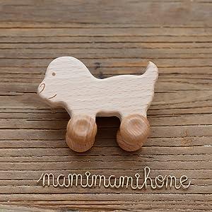 BESPORTBLE 2 Piezas de Madera Sonajero para Beb/és Mordedor Montessori Agarre Juguete de Dentici/ón Instrumento de Campanilla de Aprendizaje Educativo Juguete para Ni/ños Peque/ños Reci/én