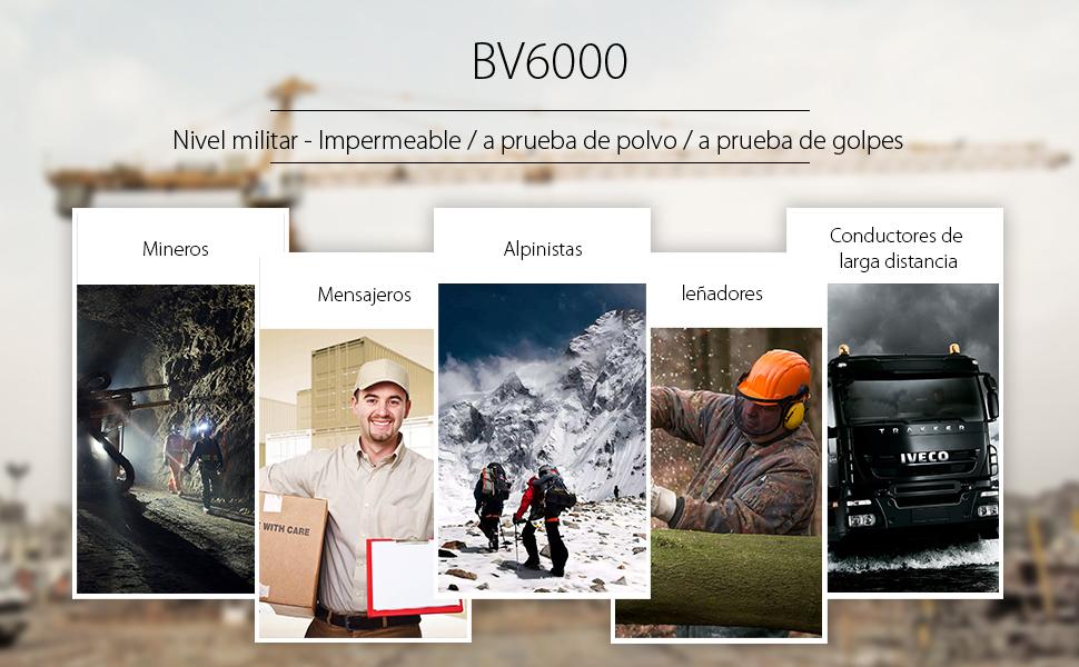 Blackview BV6000 - Movil Todoterreno (IP68 Impermeable, Batería 4500 mAh, Octa-Core 3GB RAM + 32GB ROM, Android 7.0 Dual SIM Smartphone, 13MP Cámara, ...