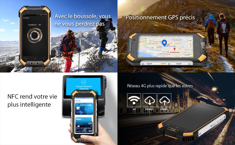 Blackview BV6000S IP68 Smartphone Libre, Impermeable Antipolvo Antigolpes Dual SIM Android 7.0 Móvil Libre 4500mAh Batería, 2GB de RAM, 16GB de ...