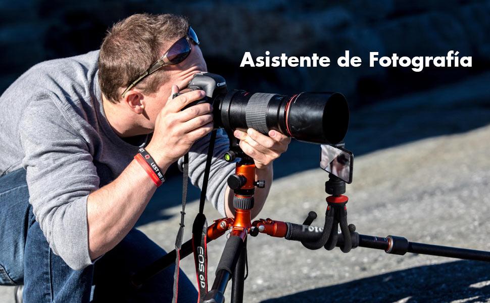 Fotopro Cámara Trípode,Tripode Flexible con Tornillo 1/4 ...