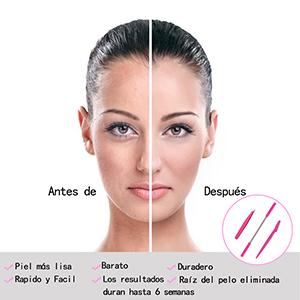 Depiladora Vello Facial, Kapmore 3en1 Depilación Facial + Pinzas ...