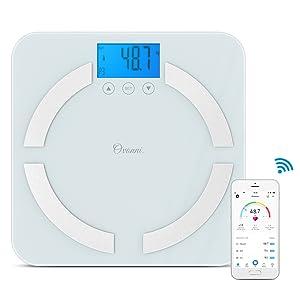 Esta bascula digital de Ovonni aplica la tecnología bioeléctrica (BIA) para medir con precisión 7 medidas esenciales de su cuerpo: Peso, ...