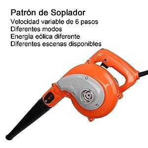Soplador Electrico - GOXAWEE 600W Soplador Aspirador/Soplador de ...