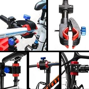 amzdeal Soporte Caballete de reparación de Bicicletas Soporte de Reparar Bici Altura Ajustable115cm-170cm, Soporte para Reparar Bicicleta Girando hasta 360 °,Nueva versión: Amazon.es: Deportes y aire libre