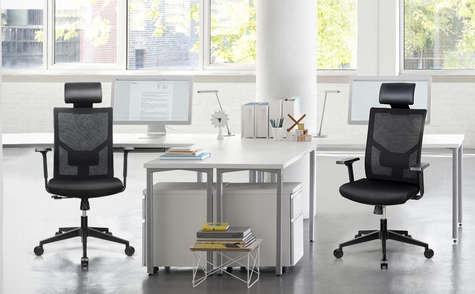 Amzdeal Silla de oficina ergonómica