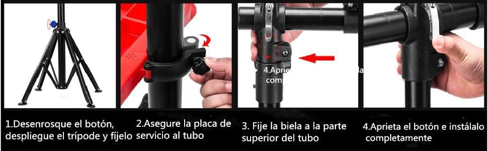 amzdeal Soporte Caballete de reparación de Bicicletas Soporte de ...