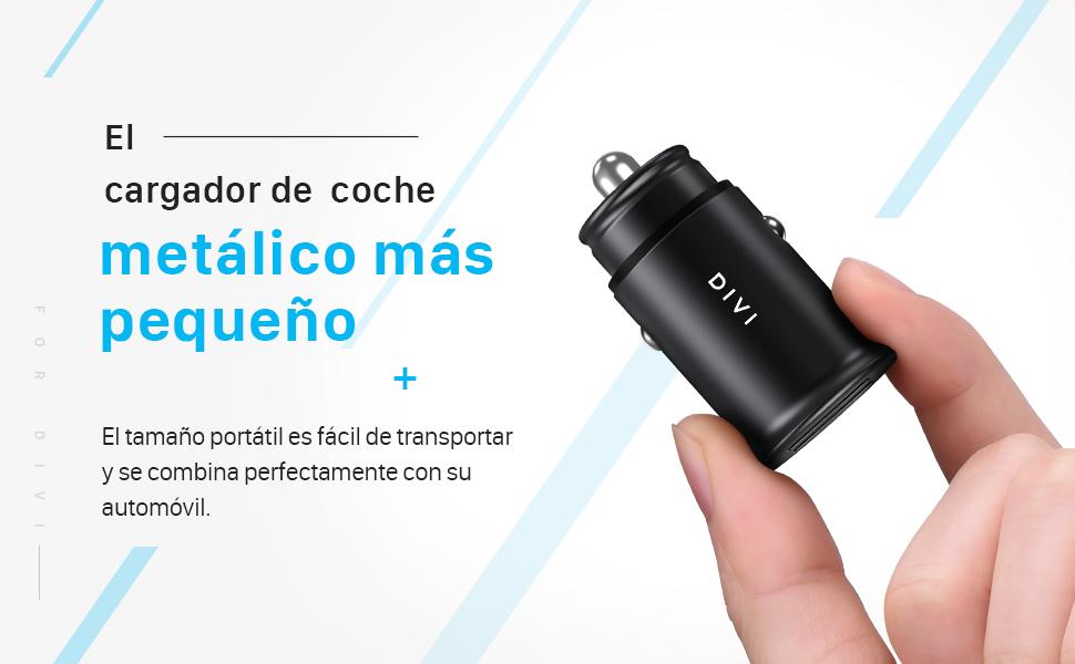 DIVI Cargador de Coche con Doble USB Puerto Cargador Móvil 5V/4.8A ...