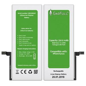 GadFull Batería para iPhone 6 Plus con kit de herramientas profesional de reparación manual