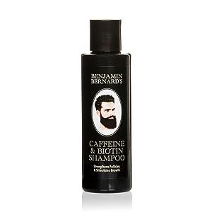 Champú con cafeína y biotina para hombres -Benjamin Bernard - Para fortalecer los folículos capilares y estimular el crecimiento de pelo - Sin ...