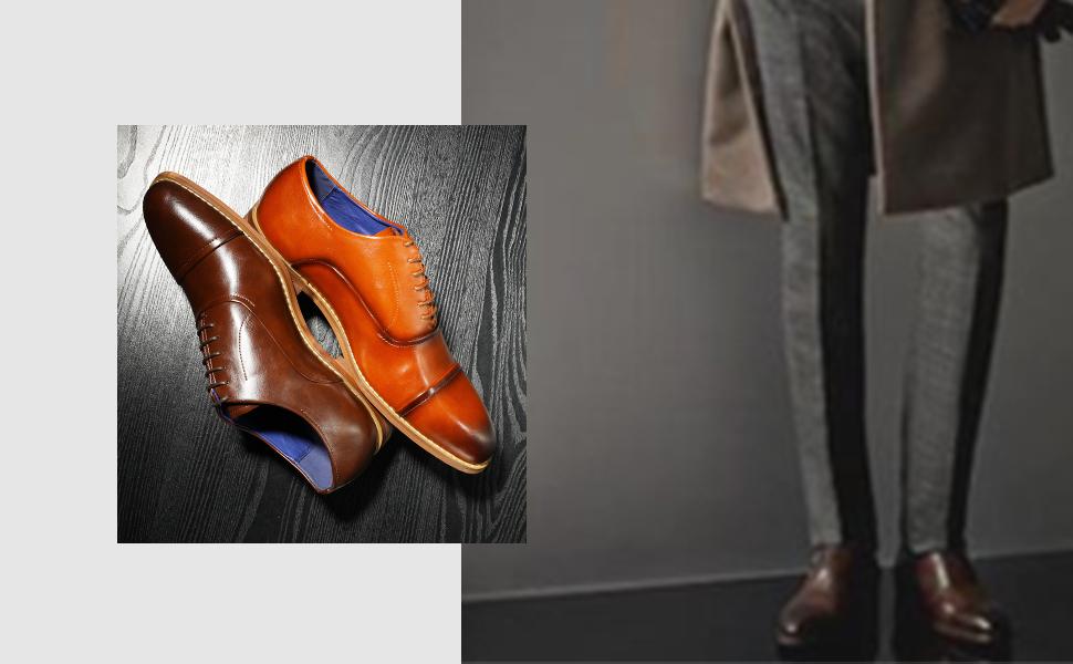 Bruno Marc Hombles Zapatos de Cordones Oxford Vestir Clásicos ...