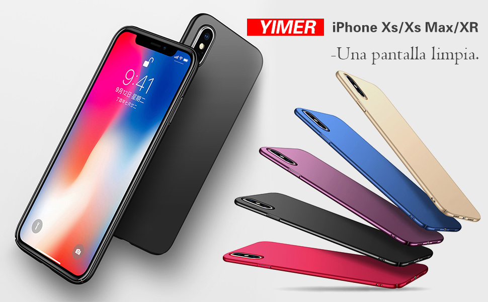 Funda Apple iPhone Xs/XR Ultra Fina Case PC Protectora Caso Perfecta Carcasa Bumper Flexible Ultra-Delgado Anti-Arañazos resistente para Teléfono ...