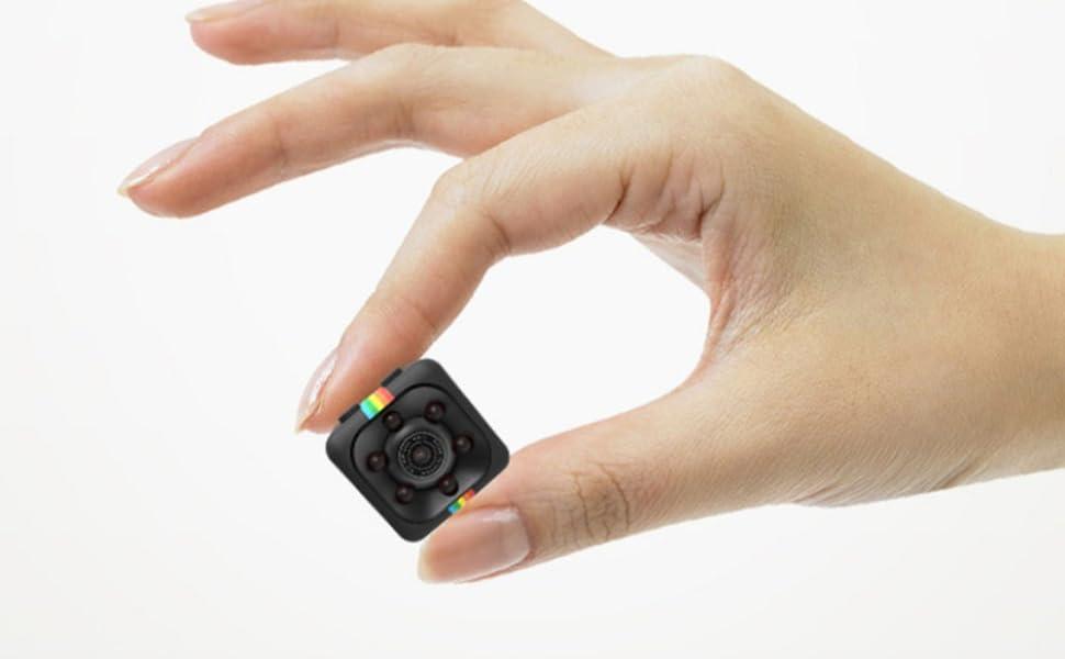 Khool® Mini Cámara Espía Oculta 1080P HD Cámara de Vigilancia Portátil Secreta y Compacta con Detector de Movimiento IR y Visión Nocturna, Cámara ...
