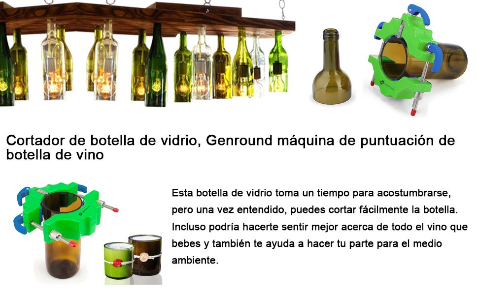 Kit de cortador de botellas de cristal Genround [versión 1.1 ...