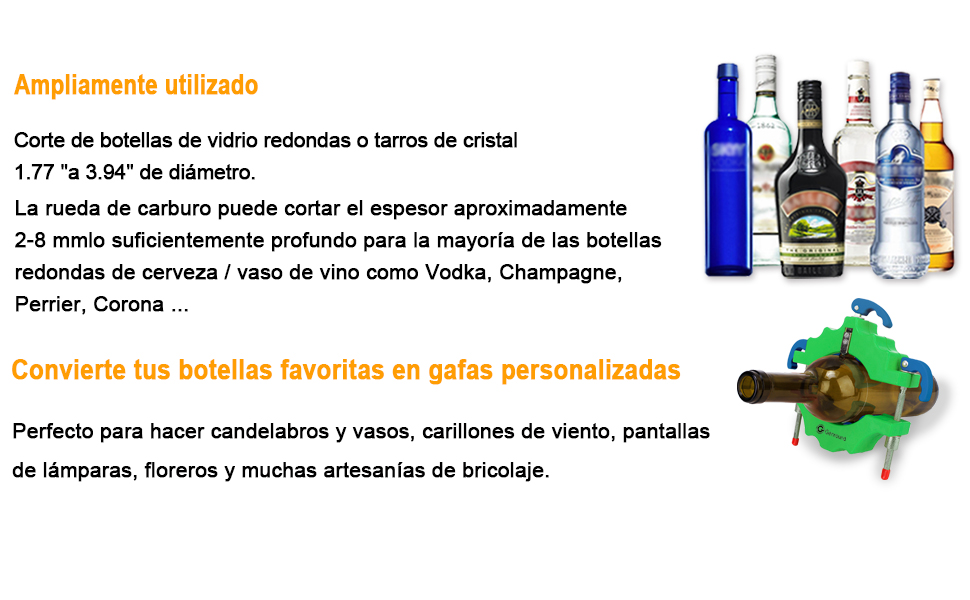 Kit de cortador de botellas de cristal Genround [versión 1.1 ...
