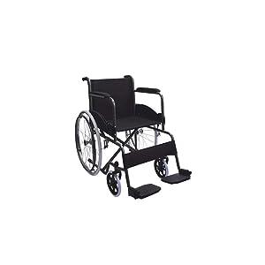 Silla de ruedas | Plegable | Rueda grande | Ligera | Negro | Alcazaba | Mobiclinic