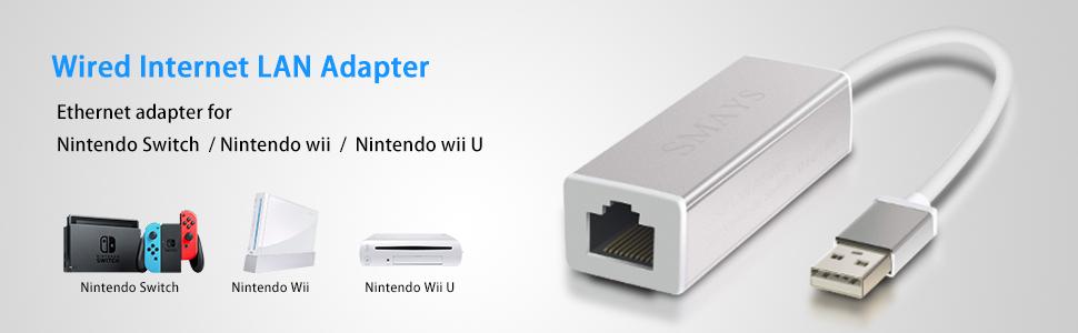 Adaptador de LAN para Nintendo Switch, Wii, Wii U Conexión a Internet por Cable: Amazon.es: Electrónica