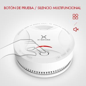 Alarma de Humo X-SENSE SD13, Detector Fotoeléctrico de Humo con Alarma de Incendio Inteligente, 10 Años de Duración de la Batería y Chequeo ...