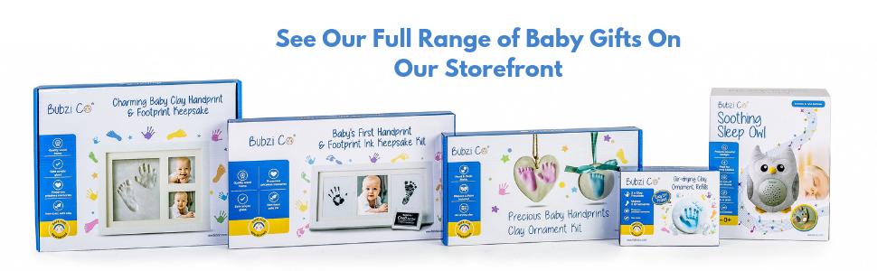 bubzi co baby handprint footprint kit baby gift newborn