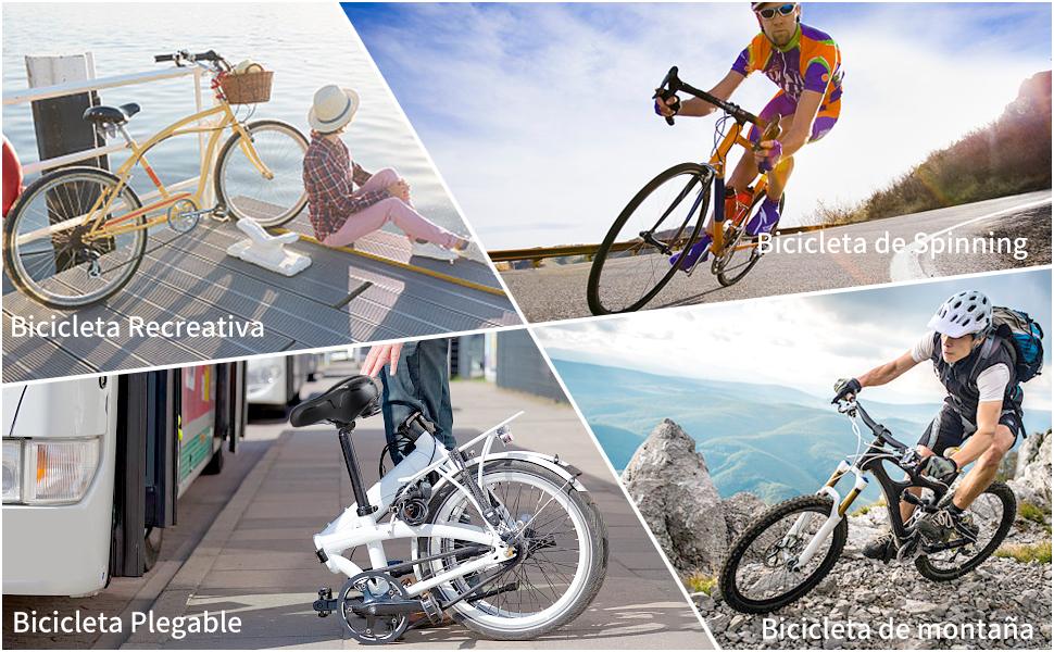 YOUNGDO Sillin de Bicicleta Montaña con Dos amortiguadores ...
