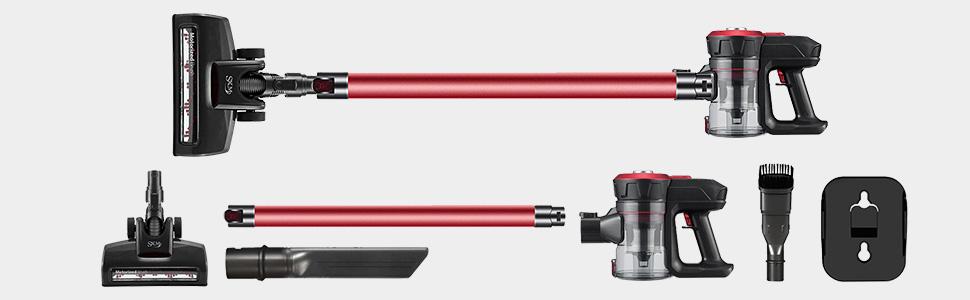 SKM D18 Aspiradora de sin Cable Inalámbrico, 2 en 1 con 2 ...
