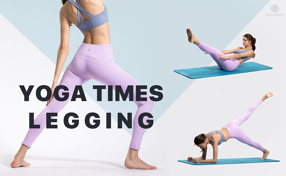 QUEENIEKE Polainas de Yoga para Mujeres Nueve Pantalones Medios de Correr Power Flex de Alta Cintura para Gimnasio