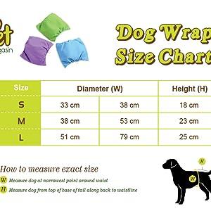 Lavar cola acolchado desechable vestir deslices pipí cintura absorbente cachorro orina vientre banda